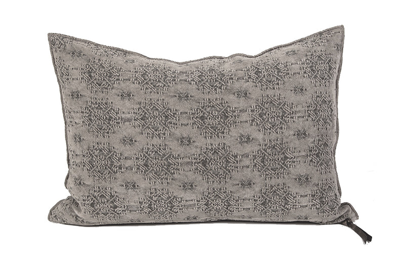 Cushion  - Stone Washed Jacquard in Kilim Ecorce