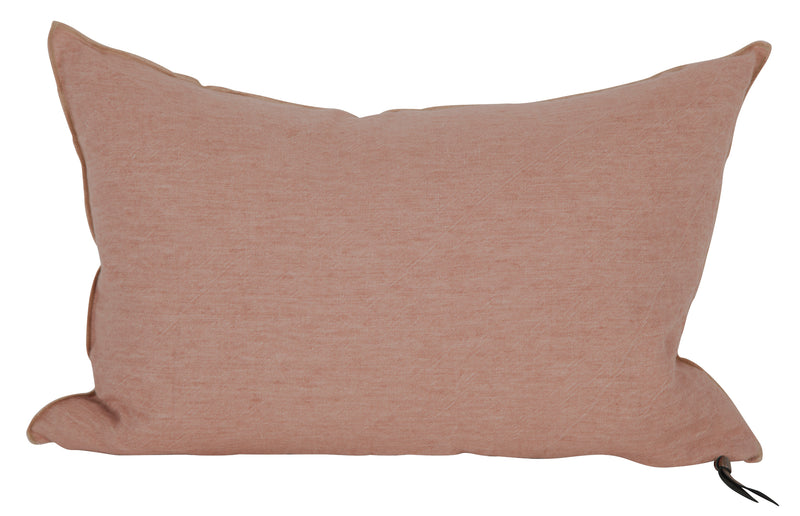 Cushion  - Crumpled Linen in Bois de Rose/Givré