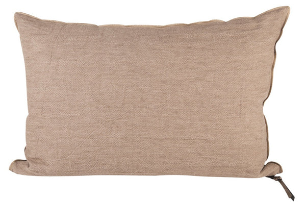 Cushion  - Crumpled Linen in Nude/Givré
