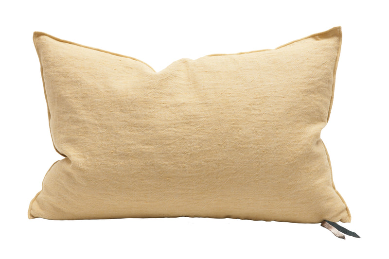 Cushion  - Crumpled Linen in Paille/Givré