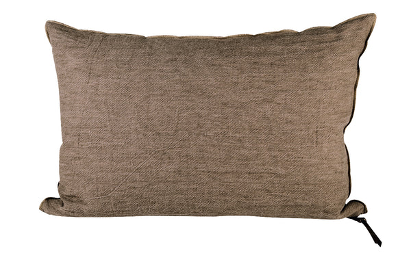 "Cushion  - Crumpled Linen in Taupe/Givré 26""x26"""