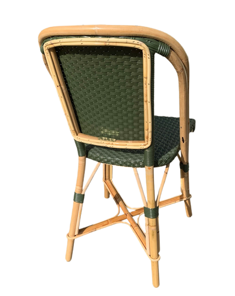 Woven Rattan Fouquet Bistro Chair Olive