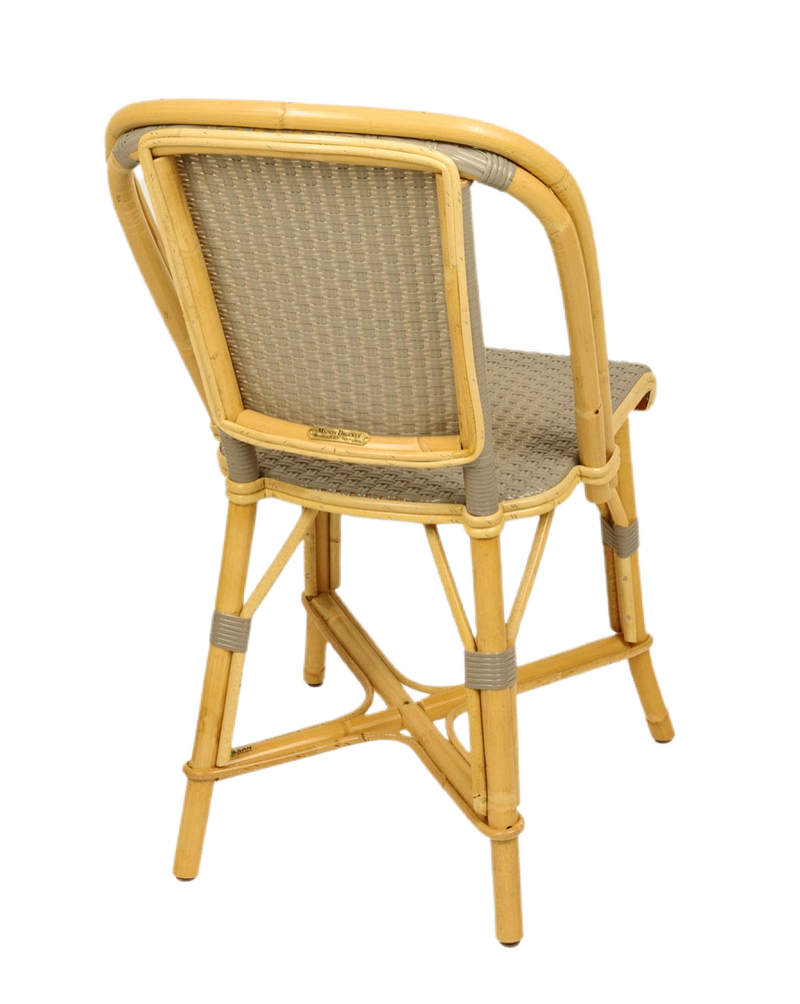Woven Rattan Fouquet Bistro Chair Grey