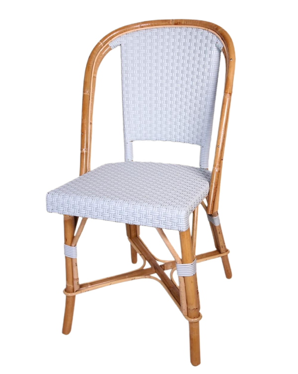 Woven Rattan Fouquet Bistro Chair Baby Blue
