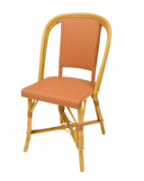 Woven Rattan Fouquet Bistro Chair Rose