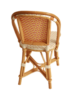 Woven Rattan Fouquet Bistro Chair Kids Pink, White, and Curcuma
