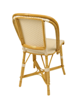 Woven Rattan Fouquet Bistro Chair White