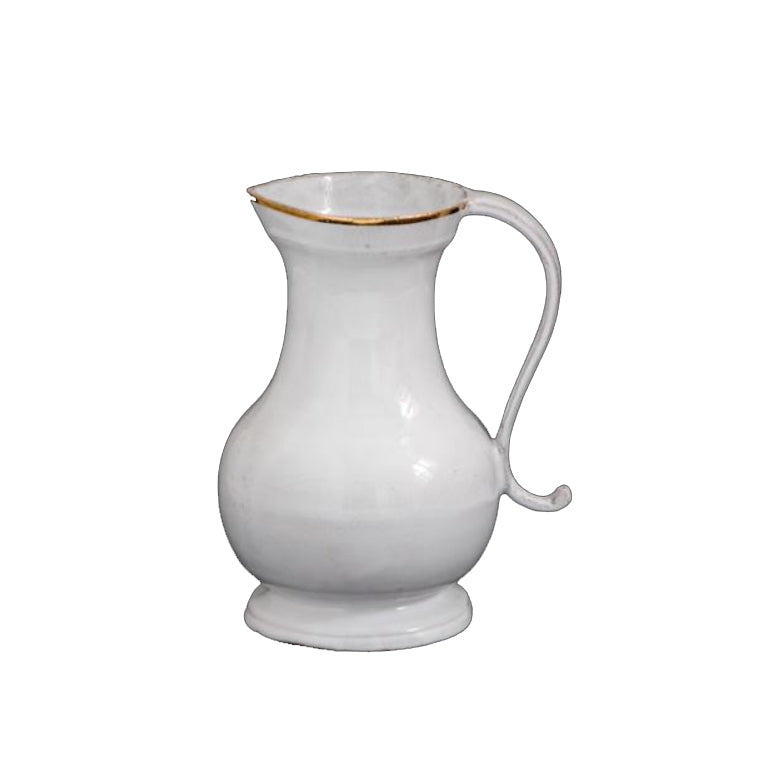Large Pitcher with Gold Rim - Colbert