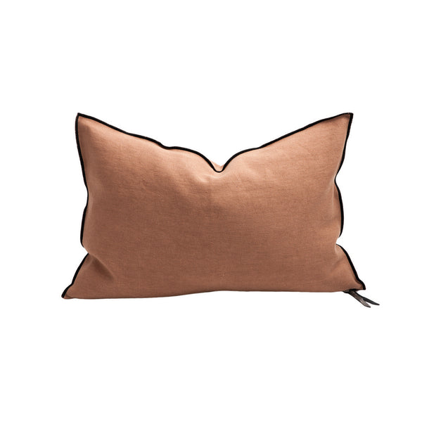 Cushion - Stone Washed Linen in Terracotta