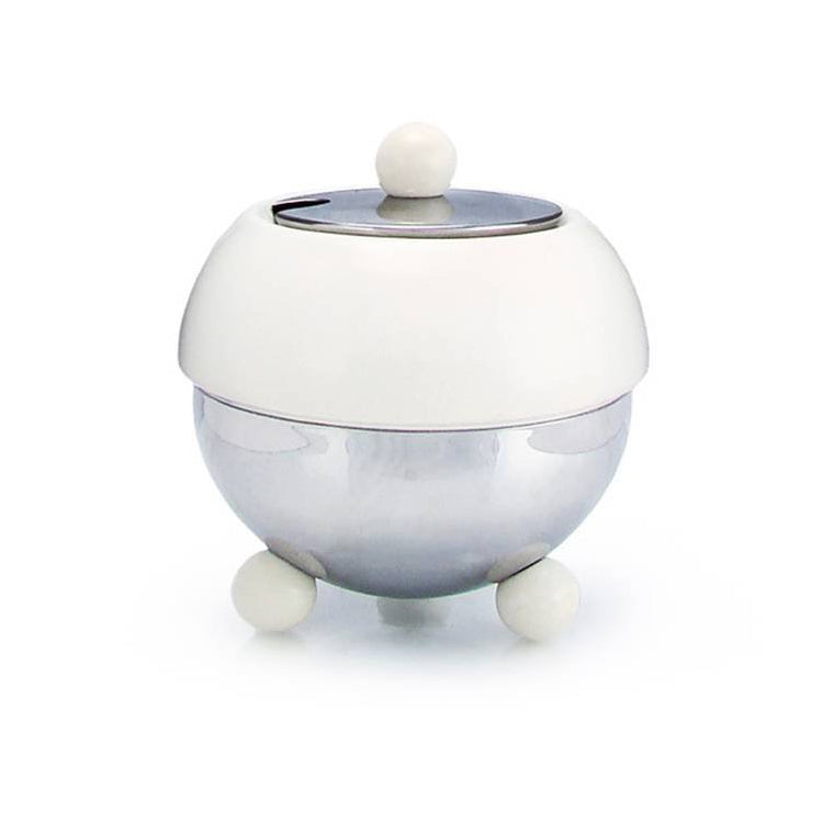 Sugar Bowl - Art Deco in White