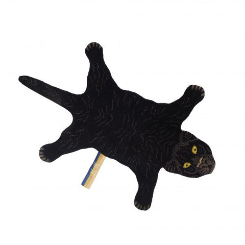 Rug Fiery Black Panther Small