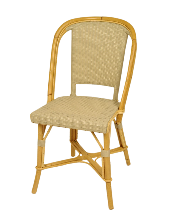 Woven Rattan Fouquet Bistro Chair Tan