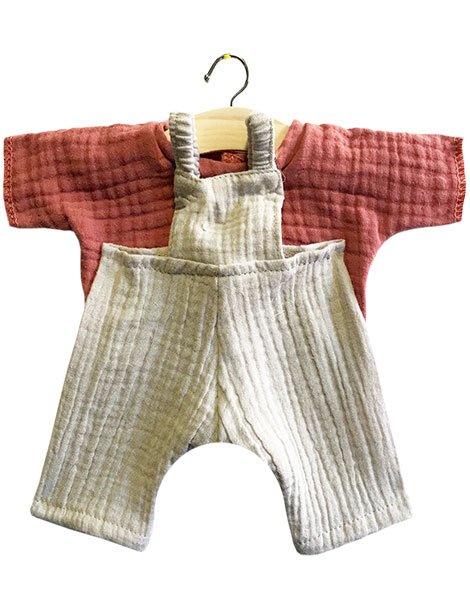 Doll Overalls - Jules Beige