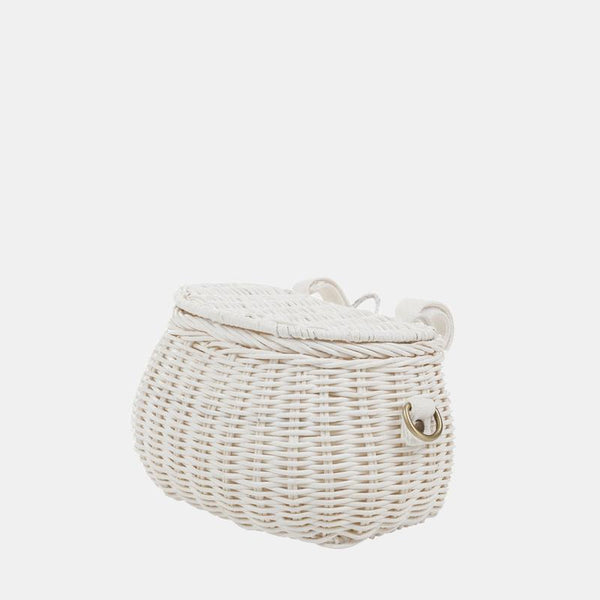 Basket For Kids Bicycle White