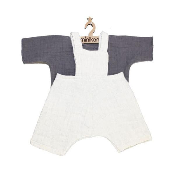 Doll Overalls Jules Grey