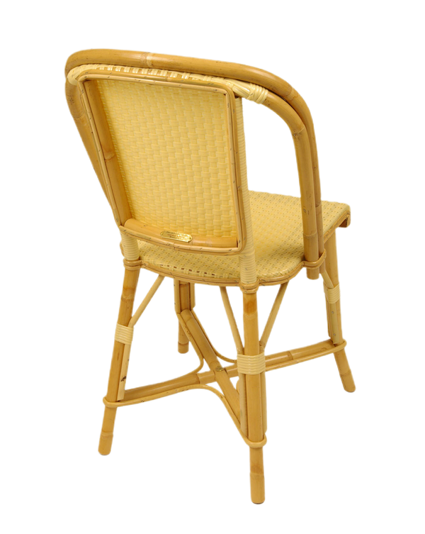 Woven Rattan Fouquet Bistro Chair Ivory