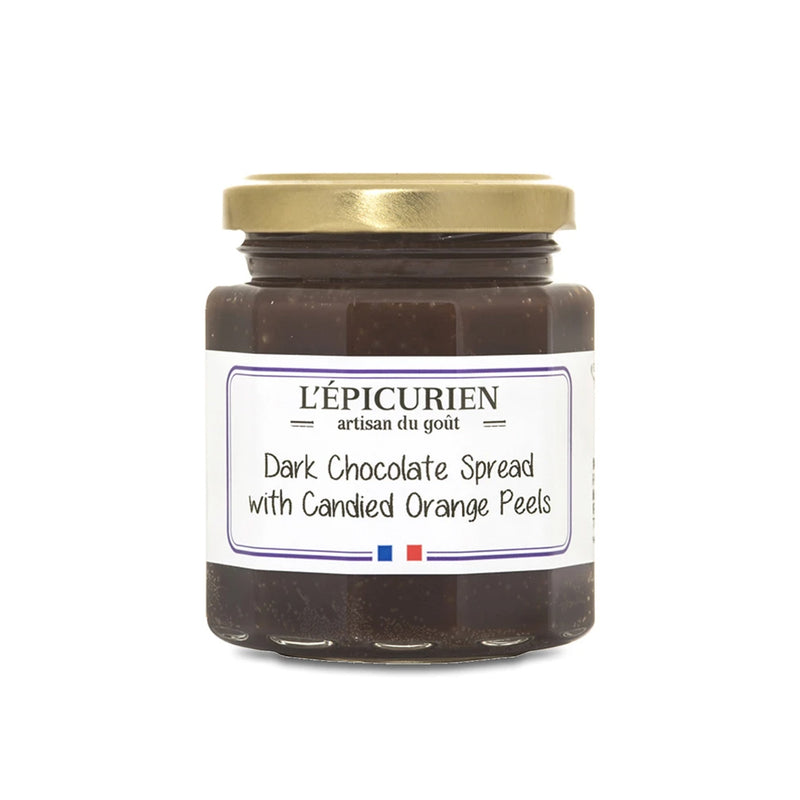 Dark Chocolate Spread with Candied Orange Peels