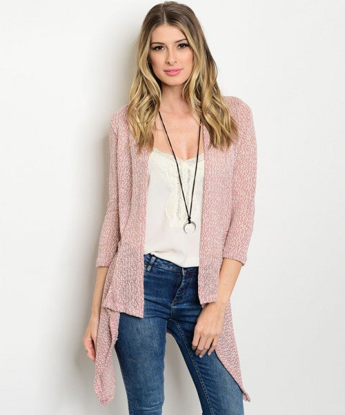 006 - Pearl of Mauve Knit Cardigan
