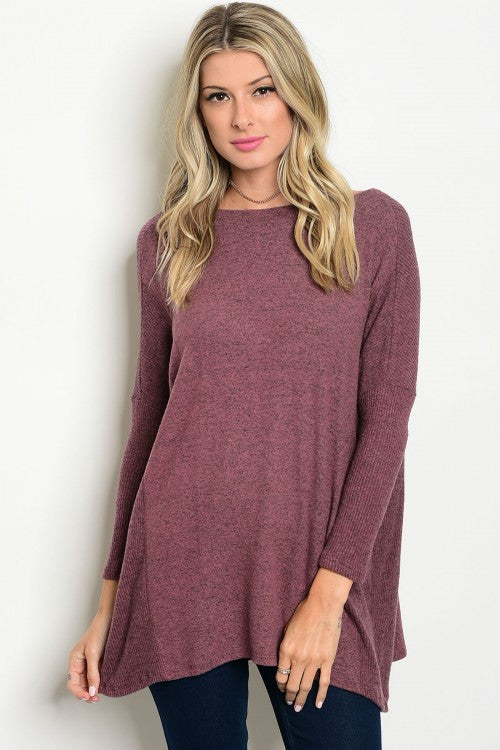000 - Mauve Tunic Top