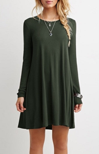 0000 - Forest Green Babydoll Dress