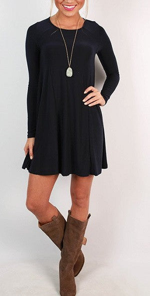 0000 - Black Babydoll Dress