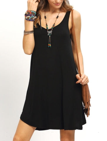 005 - Black Swing Tank Dress