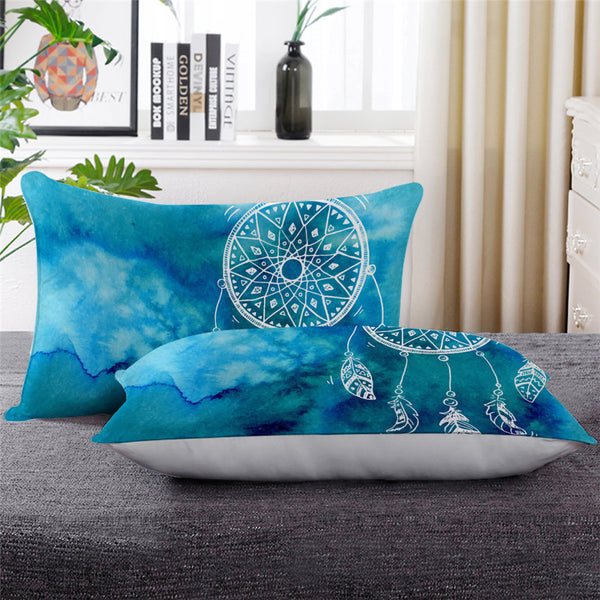 blue pillow dream catcher
