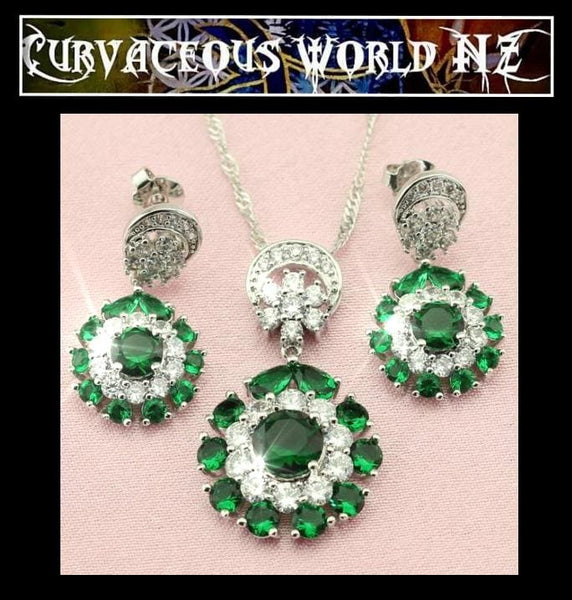 Forrest Green 3 piece Necklace set