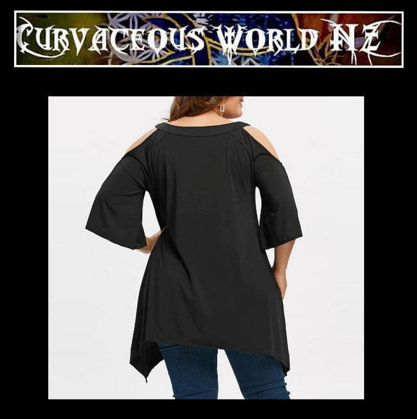 Stunning Sequined geometric hem Blouse