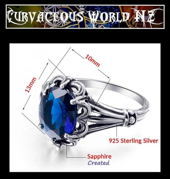 Wonderful Sapphire Sterling Silver Ring