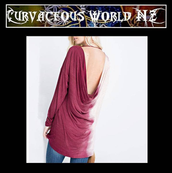Unique long sleeve Patchwork Casual Top-Plus Size blouse-Curvaceous World NZ Ltd