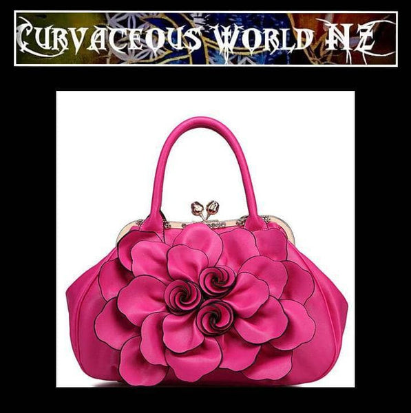 Exciting expressive floral handbag