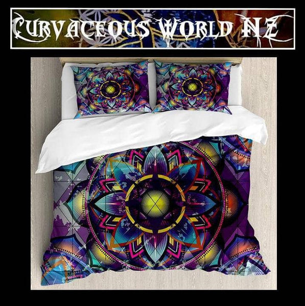 Futuristic Surreal Sacred Geometric 4 Piece duvet cover Set