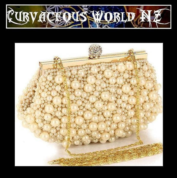 Pearl Minaudiere evening handbag