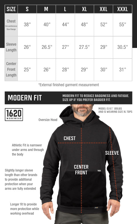 Hoodies Sizing and Fit