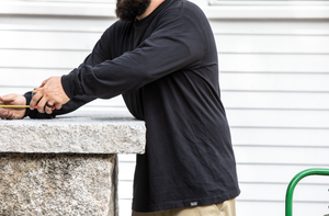 Long-sleeve cotton tee shirt | 1620 Workwear, Inc.