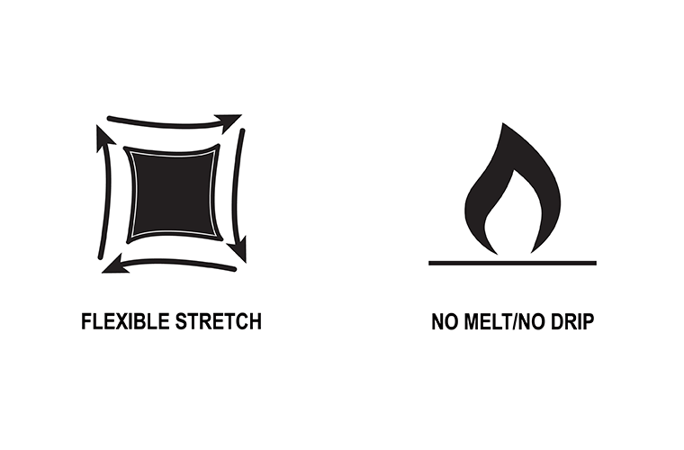 Flexible Stretch and No Melt No Drip | 1620 Workwear, Inc. | Made in the USA