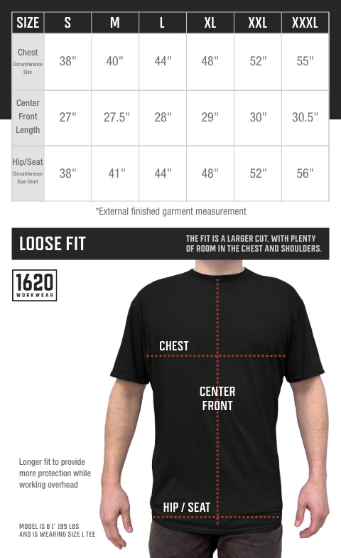 NYCO Work T-Shirt Sizing and Fit