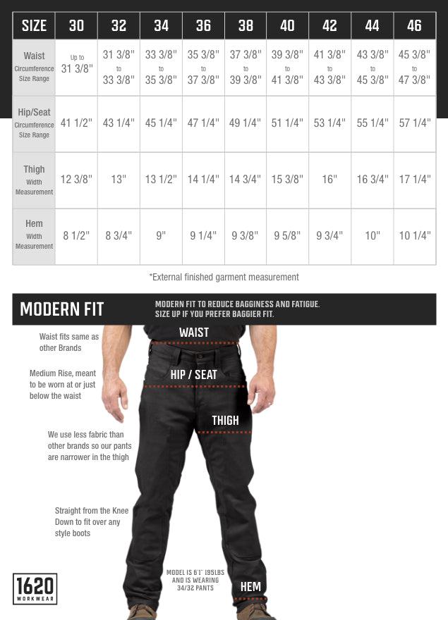 Stretch NYCO Pants Sizing and Fit