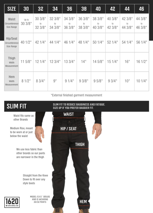 Stretch NYCO Slim Fit Pants SIzing and Fit