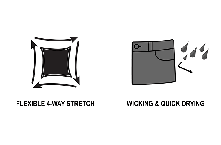 Flexible Stretch and Wicking Quick Drying | 1620 Workwear, Inc. | Made in the USA