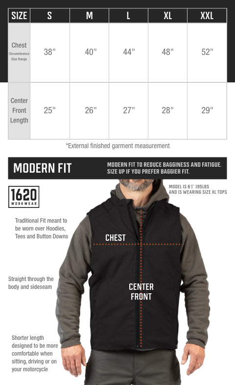 Work Vest Sizing and Fit
