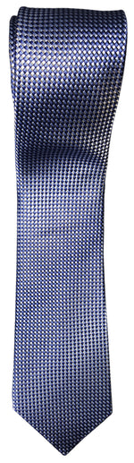 Van Heusen Men's Mini Zig Zag Non Solid Blue