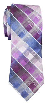 Van Heusen Apollo Grid Print Tie Purple