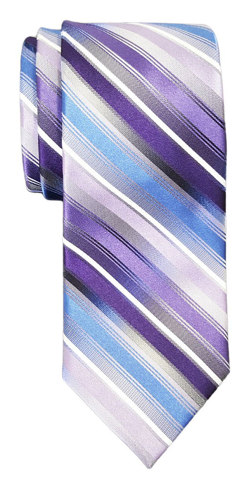 Van Heusen Mission Stripe Silk Tie Purple