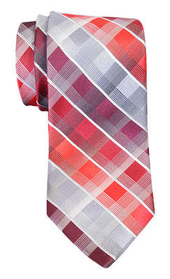 Van Heusen Apollo Grid Print Tie Red