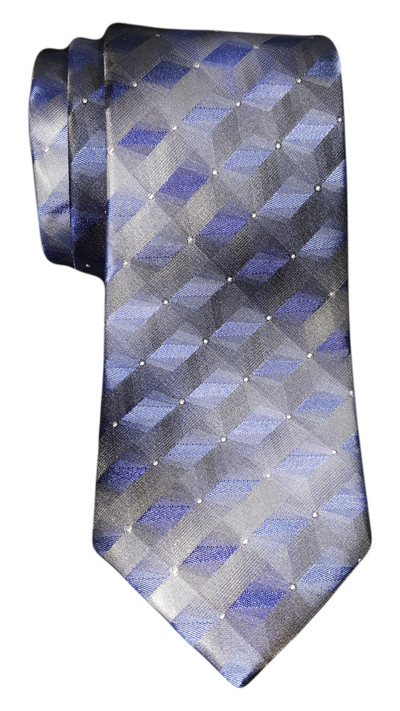 Van Heusen 3D Geo Tie Royal Blue