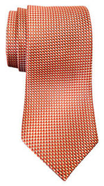 Van Heusen Men's Mini Zig Zag Non Solid Tie Orange