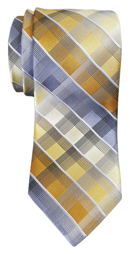 Van Heusen Apollo Grid Print Tie Yellow