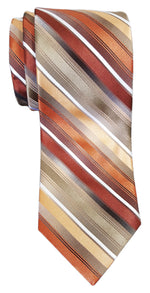 Van Heusen Mission Stripe Silk Tie Orange